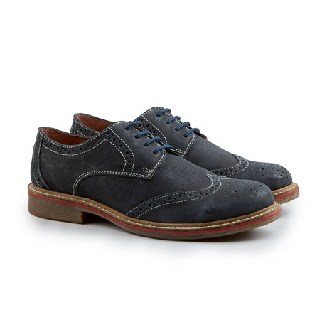 Cap Stan Wing-Tip Derby // Navy (Euro: 41)