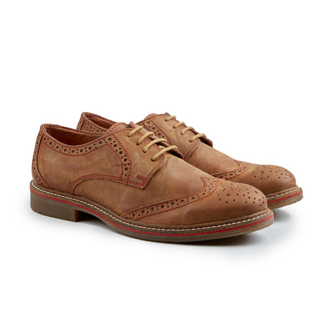 Cap Stan Wing-Tip Derby // Tan (Euro: 41)
