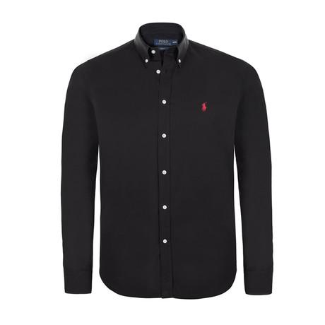 Slim Fit Classic Shirt // Black (S)