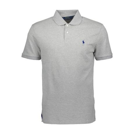 Mesh Polo Shirt // Andover Heather + Navy (S)