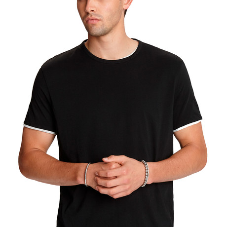 Rockford Short Sleeve Reversible Dbl Layer Cotton Crew // Black (XS)