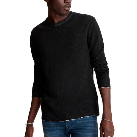 Stamford Long Sleeve Reversible Double Knit Crew // Black (XS)