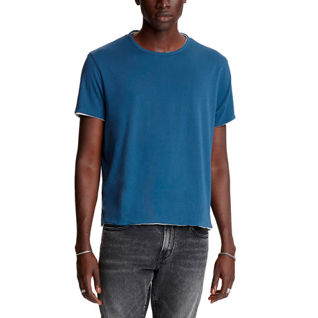 Rockford Short Sleeve Reversible Dbl Layer Cotton Crew // Cadet Blue (XS)