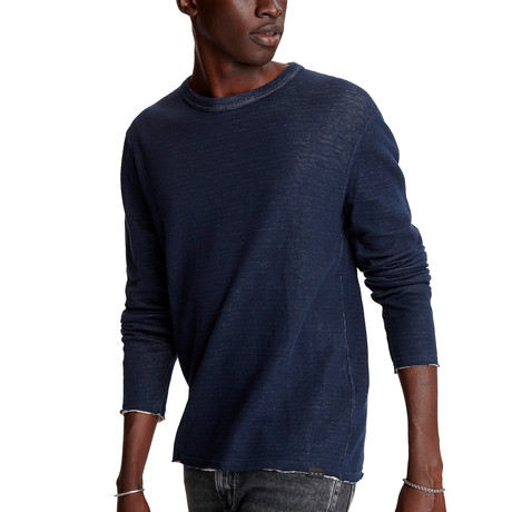 Stamford Long Sleeve Reversible Double Knit Crew // Pacific Blue (XS)
