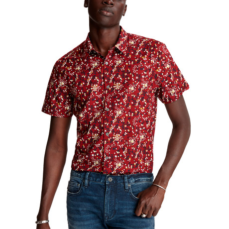 Jasper Regular Fit Short Sleeve Sport Shirt // Crimson (XS)