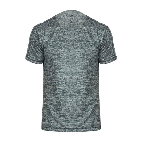 Xander Short Sleeve Fitness T-Shirt // Marbled Blue (S)