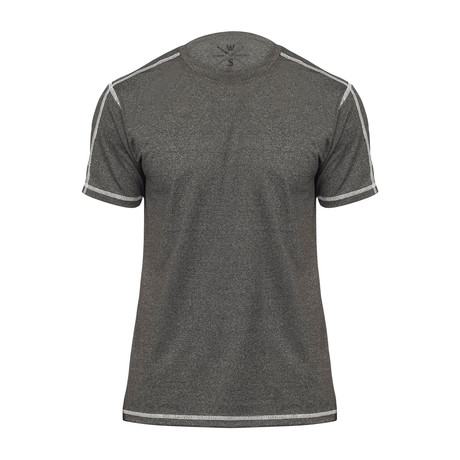 Xander Short Sleeve Fitness T-Shirt // Black (S)