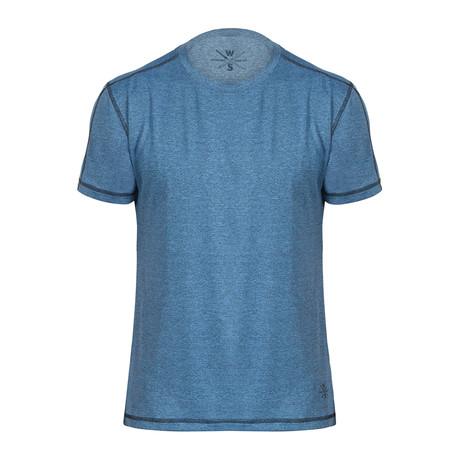 Xander Short Sleeve Fitness T-Shirt // Blue (S)