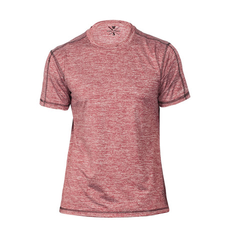Xander Short Sleeve Fitness T-Shirt // Red (S)