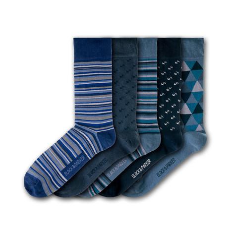 Rosemoor Garden Socks // Set of 5