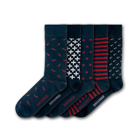 Minterne Gardens Socks // Set of 5