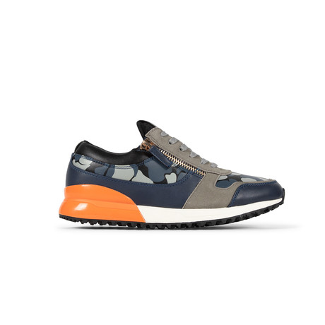 Rodeo Sneaker // Gray + Navy + Camo (US: 7.5)