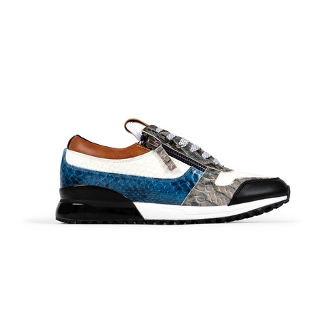 Rodeo Sneaker // White + Navy + Exotic (US: 7.5)