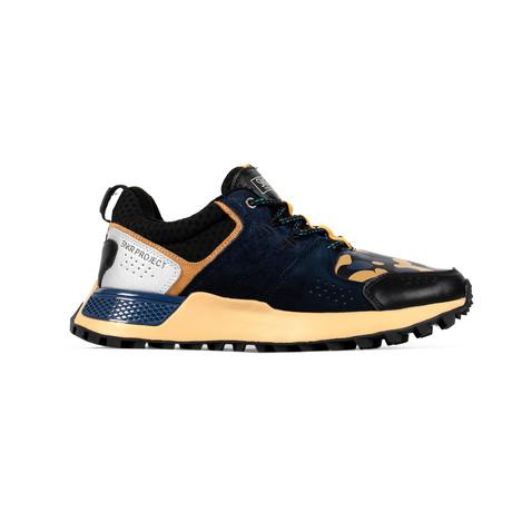 Duane Sneaker // Navy + Black + Yellow Camo (US: 7.5)