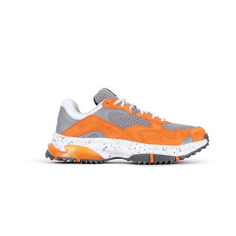 Prospect Park Sneaker // Gray + Orange (US: 7.5)