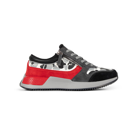 Rodeo 2.5 Sneaker // Black + Gray Camo + Red (US: 7.5)