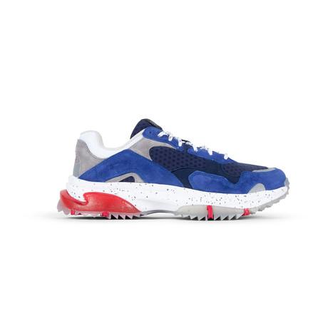 Prospect Park Sneaker // Blue + Gray + Red (US: 7.5)