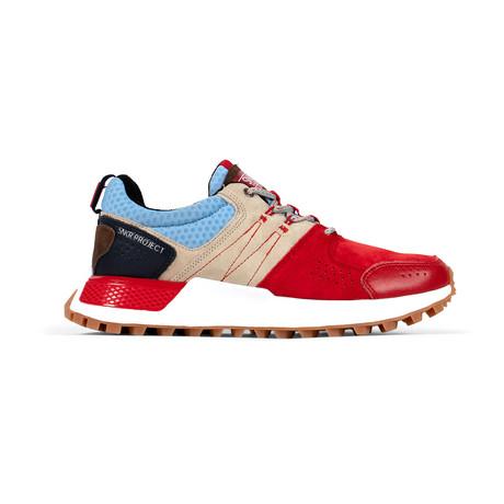 Duane Sneaker // Red + Tan + Blue (US: 7.5)