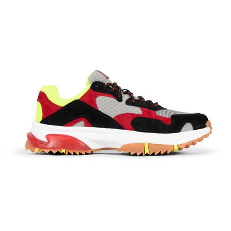 Prospect Park Sneaker // Black + Red + Yellow (US: 7.5)