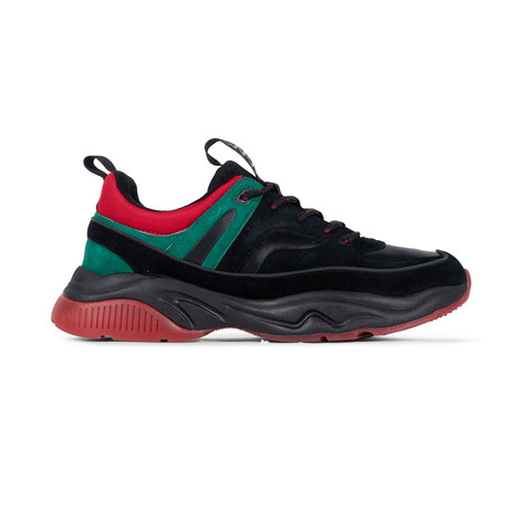 Victory Sneaker // Black + Red + Green (US: 7.5)