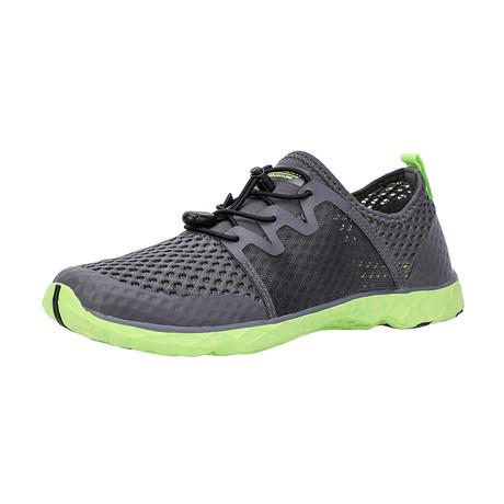 Men's XDrain Venture II Water Shoes // Gray + Green (US: 7)