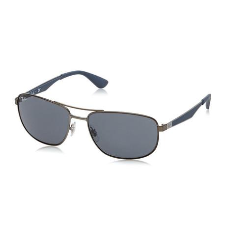 Unisex Pilot Sunglasses // Gunmetal + Gray