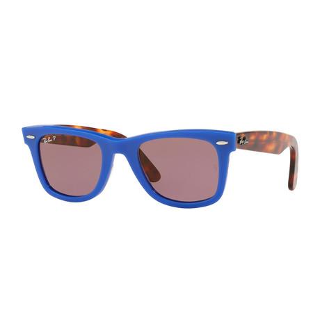 Unisex RB2140 Sunglasses // Blue Tortoise + Brown