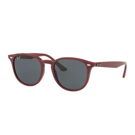 Unisex Propionate Oval Sunglasses // Bordeaux + Gray