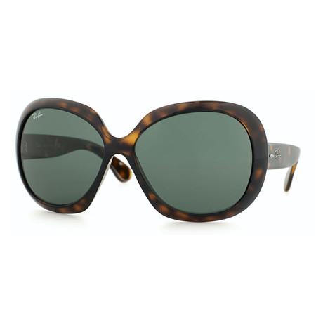 Women's Jackie Oh Sunglasses // Tortoise + Green Classic