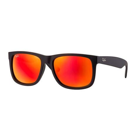 Unisex Justin Classic Sunglasses // Black + Red Mirror