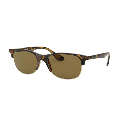 Ray-Ban // Unisex Square Sunglasses // Tortoise + Brown Classica