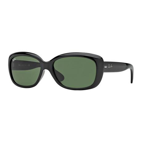Women's Jackie Oh Sunglasses // Black + Green Classic