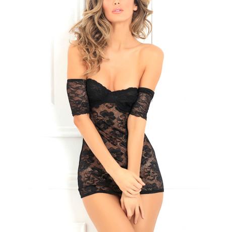 Seductively Stunning Lace Dress // Black (S/M)