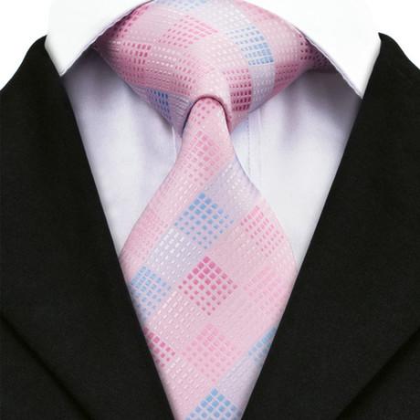 Alger Tie // Light Pink + Blue