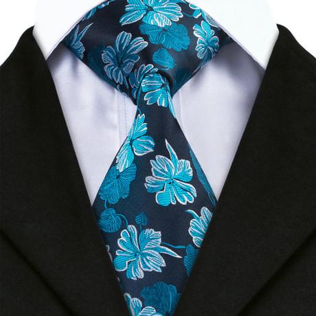 Dash Flower Tie // Blue