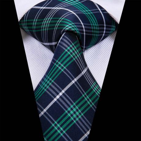 Eudes Plaid Tie // Navy + Green