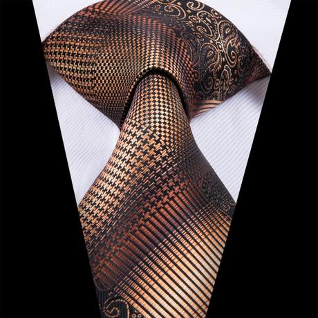 Kari Tie // Brown + Gold