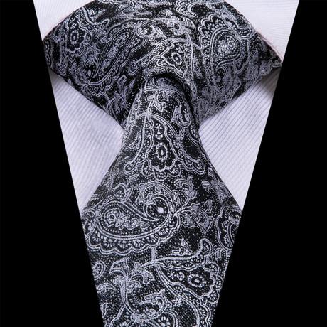 Kale Paisley Tie // Black