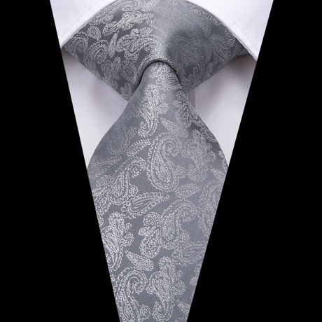 Frances Handmade Silk Tie // Gray