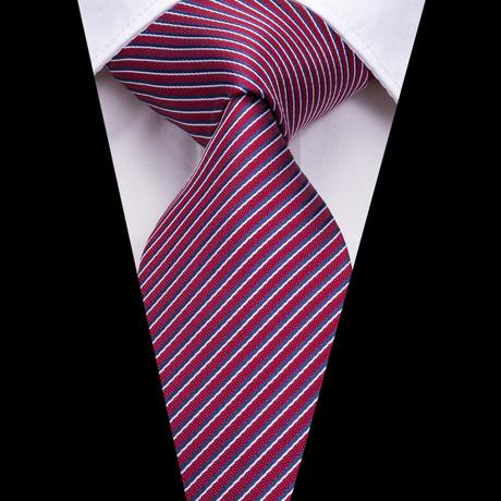 Pilot Stripe Tie // Maroon