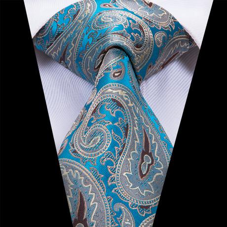 Maisan Tie // Gray + Blue