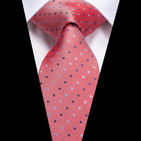 Landon Handmade Silk Tie // Salmon