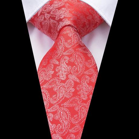 Carbani Paisley Tie // Red