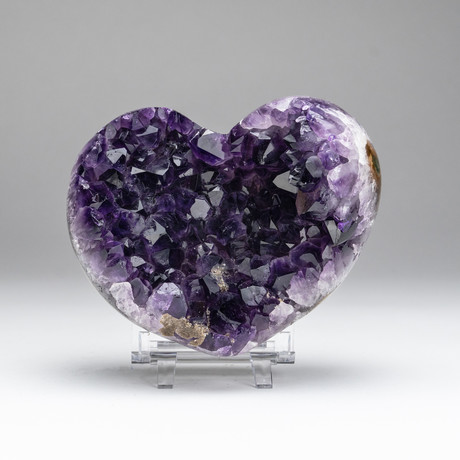 Amethyst Crystal Cluster Heart // v.1