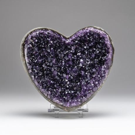 Amethyst Crystal Cluster Heart // v.3