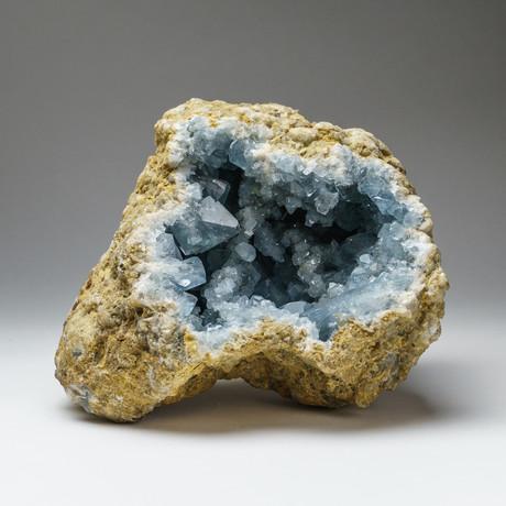Natural Blue Celestite Cluster // v.2