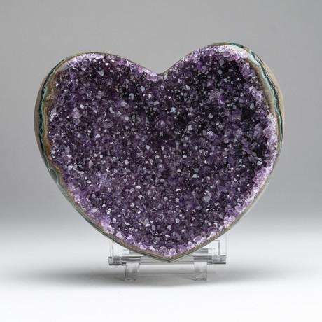 Amethyst Crystal Cluster Heart // v.2