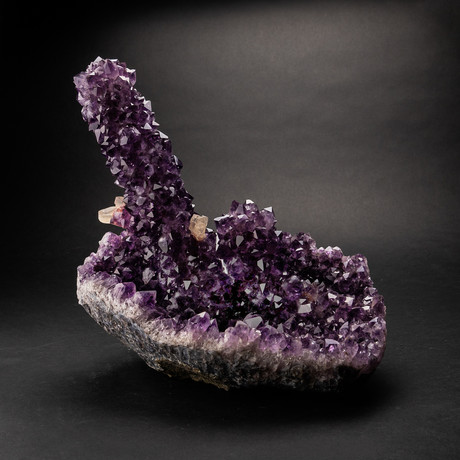 Natural Amethyst Stalactite Cluster + Calcite