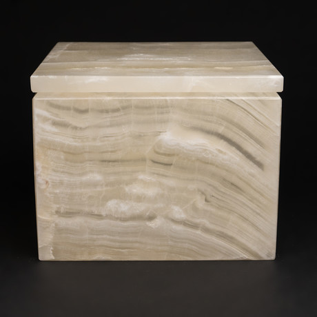 Large // Natural Onyx Box // Square