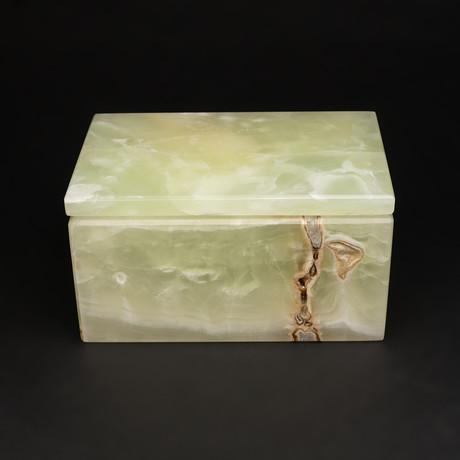 Small // Natural Onyx Box // Rectangle // Green